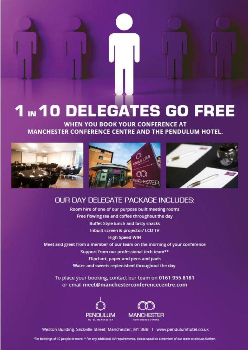 Pendulum Hotel - Conference Hotel Near Manchester Piccadilly